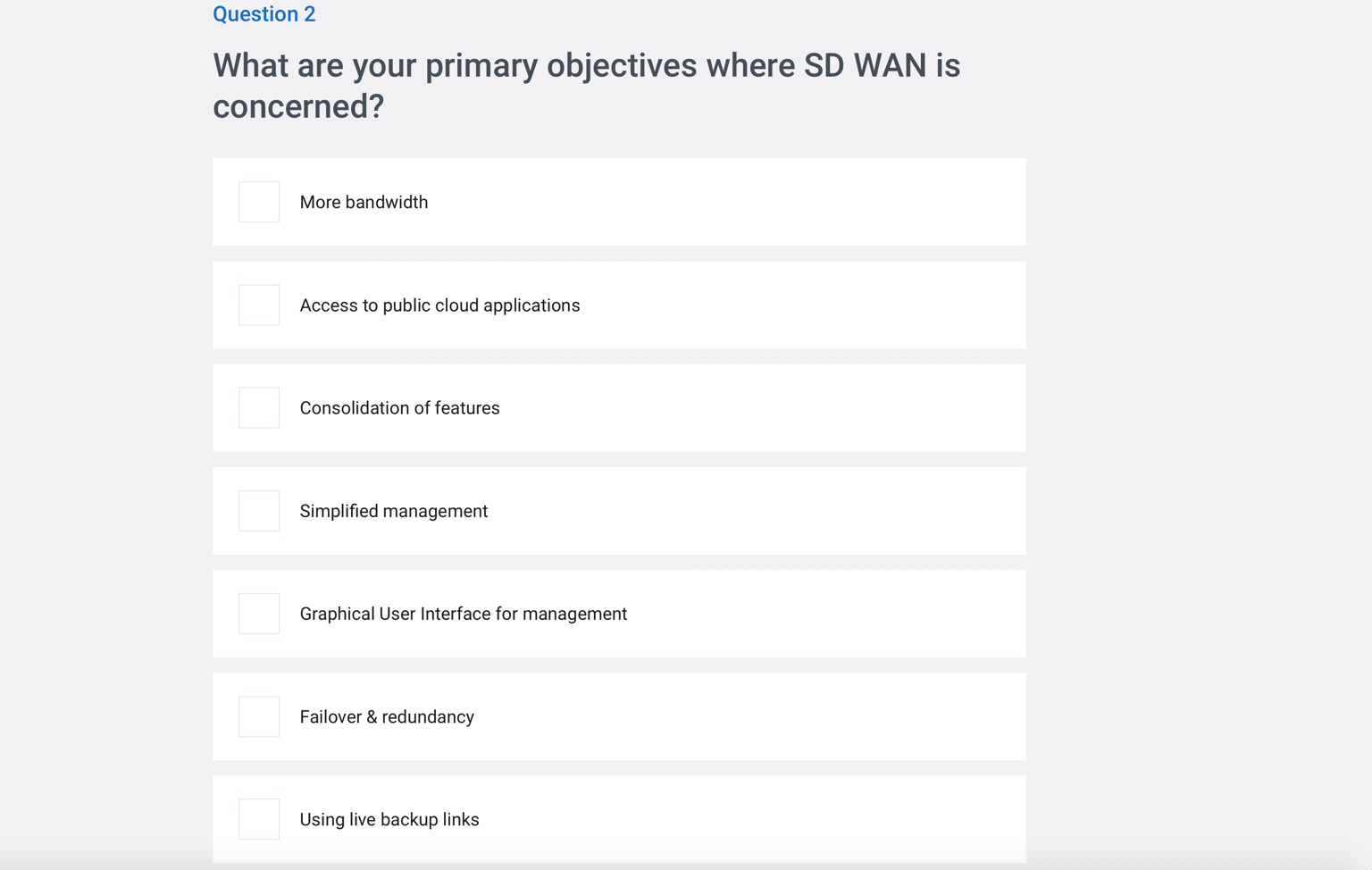 Netify SD WAN Assessment Questions