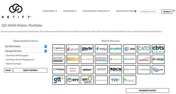 Netify SD WAN comparison platform