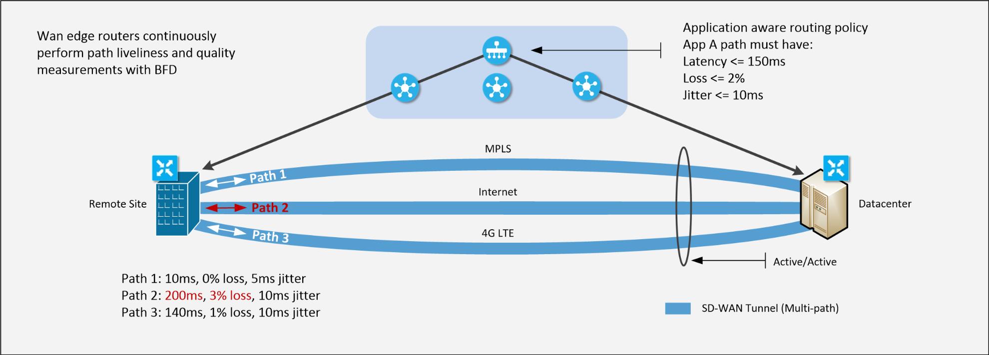 Netify SD WAN vendors path selection