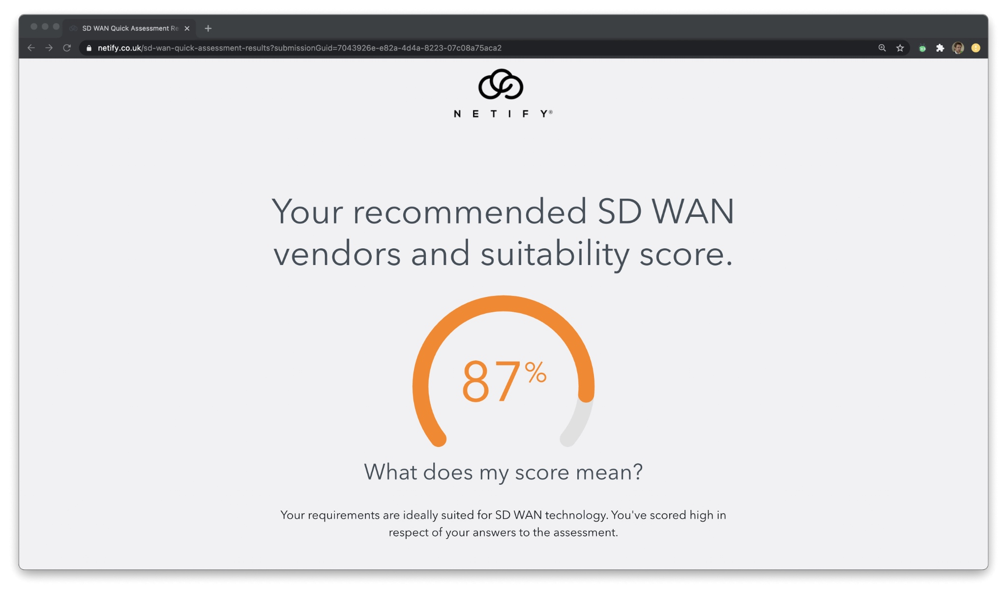 SD WAN Providers - Score my requirements