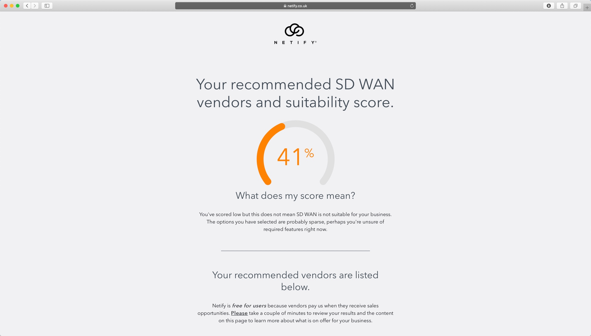 SD WAN Vendor Comparison